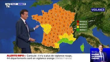 44 départements en vigilance orange canicule, 47 en vigilance orange orages