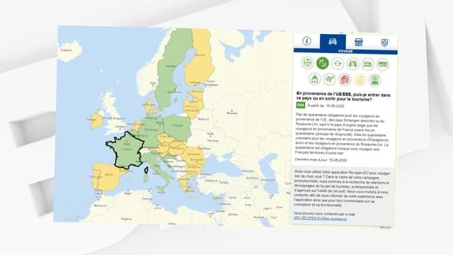 L'Union européenne a mis en ligne, le 15 juin 2020, un site pour aider les touristes à connaître les restrictions de voyage liées à l'épidémie de coronavirus.