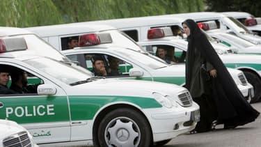 Police à Téhéran en Iran (illustration)