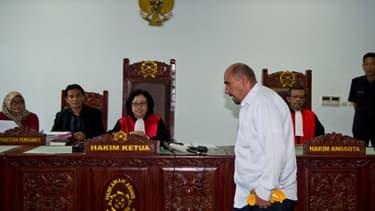 Serge Atlaoui devant un tribunal indonésien, le 1er avril 2015.
