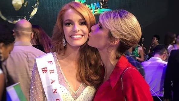Maëva Coucke et Sylvie Tellier au concours Miss Monde