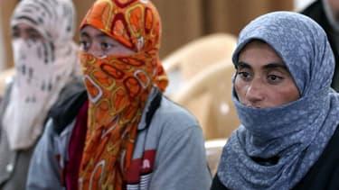 Des femmes de la communauté yézidie, en Irak, en janvier 2015. (photo d'illustration)