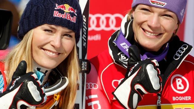 Lindsey Vonn et Maria Riesch