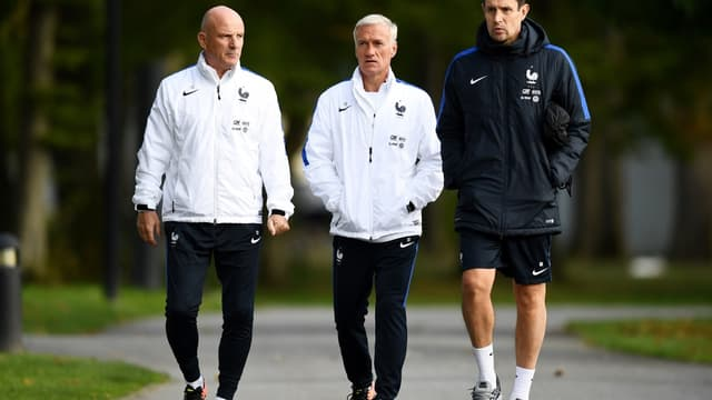 Guy Stéphan, Didier Deschamps et Franck Raviot