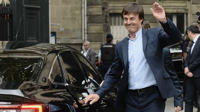 Nicolas Hulot quittant le ministère de l'Ecologie le 4 septembre 2018.