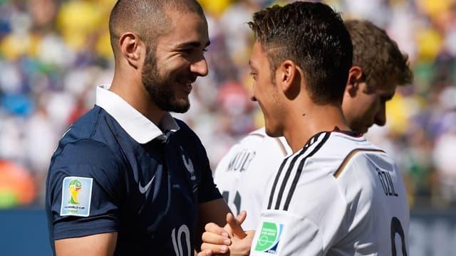 France-Allemagne : Karim Benzema et Mesut Özil