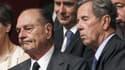 Jacques Chirac et Jean-Louis Debré à l'Assemblée nationale, en juin 2010.
