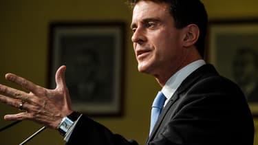 Manuel Valls, dimanche 8 janvier, en meeting à Liévin