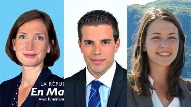 À seulement 24 ans, Carole Grandjean, Ludovic Pajot et Typhanie Degois (de gauche à droite) sont en passe de devenir députés