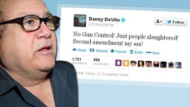 """Danny de Vito a aussi laissé s'exprimer sa colère sur Twitter : """"Deuxième amendement mon cul !""""!"""