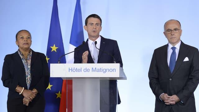 """Manuel Valls a affirmé """"entendre la colère et le malaise"""" des policiers qui manifestent mercredi."""