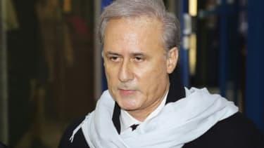 L'ancien secrétaire d'Etat à la Fonction publique George Tron, au tribunal de Bobigny, le 12 décembre 2017