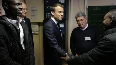Emmanuel Macron en visite à Calais mardi 16 janvier.