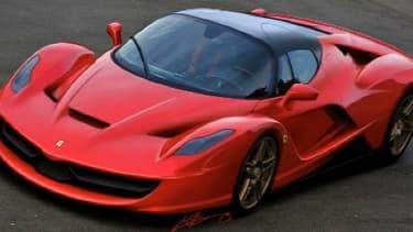 La Ferrari 150 présentée à Genève pour succéder à la Enzo.