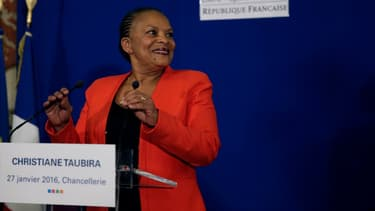 Christiane Taubira le jour de sa démission, le 27 janvier 2015.