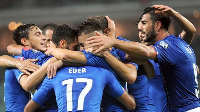 la joie des joueurs italiens