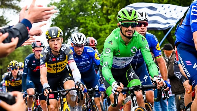 Julian Alaphilippe avec le maillot vert sur le Tour de France