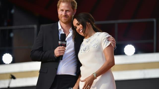 Le Prince Harry et son épouse Meghan Markle à Central Park le 25 septembre 2021 in New York