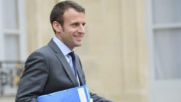 Emmanuel Macron, le ministre de l'Économie et des Finances.