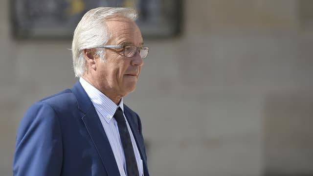 François Rebsamen le 2 septembre 2015 après son dernier conseil des ministres, à l'Elysée.