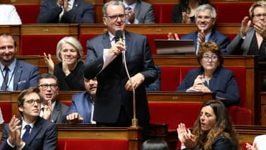 """Richard Ferrand, président du groupe """"La République en marche"""" ce mercredi à l'Assemblée nationale."""