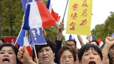 Manifestation de la communauté chinoise d'Aubervilliers le 21 août 2016 - BERTRAND GUAY / AFP