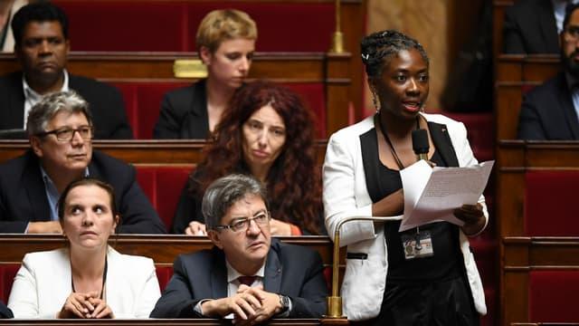 La députée de la France insoumise Danièle Obono à l'Assemblée le 24 octobre 2017.