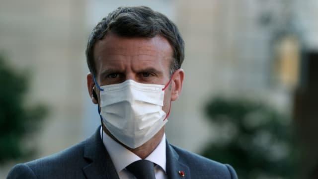 Le président Emmanuel Macron à l'Elysée, le 1er juin 2021 à Paris