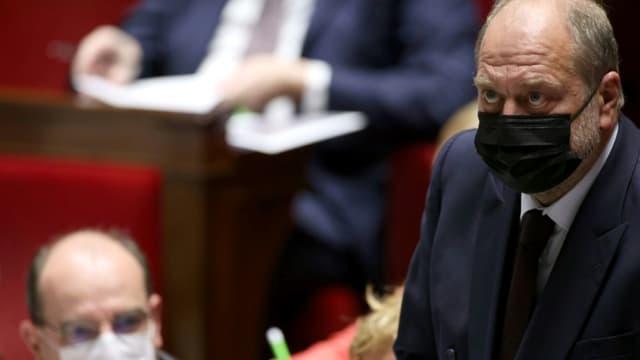 Le ministre de la Justice Eric Dupond-Moretti durant une session de questions au gouvernement à l'Assemblée Nationale à Paris le 18 mai 2021