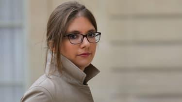 La députée LaREM Aurore Bergé à l'Elysée, le 25 novembre 2017