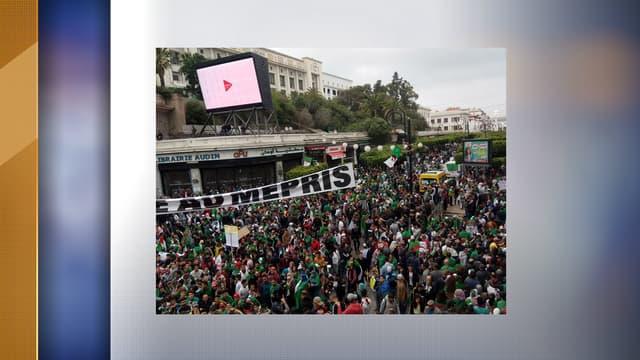 Algérien manifestant place Audin à Alger