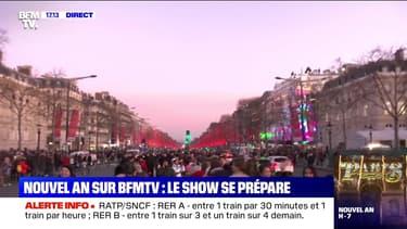 Story 1 : Les champs-Élysées se préparent au réveillon de la Saint-Sylvestre - 31/12