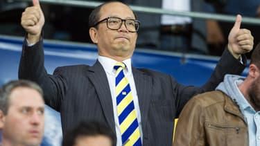 Li Wing-Sang, le PDG de Ledus, dans les travées du Stade Bonal lors d'un match du FC Sochaux.