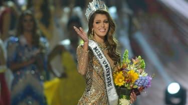 Iris Mittenaere le jour de son couronnement, le 30 janvier 2017 à Manille, aux Philippines.