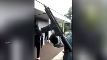 Capture d'écran de l'une des vidéos filmées à Dijon et publiées sur les réseaux sociaux.