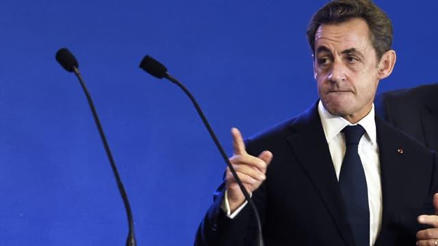 Nicolas Sarkozy le 13 décembre dernier lors d'un discours devant les cadres de l'UMP à Paris