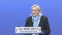 """Marine Le Pen s'est posée en """"lumière de l'espérance"""" lors de son discours du 1er mai."""
