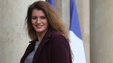Marlène Schiappa dans la cour de l'Elysée, le 15 janvier 2020