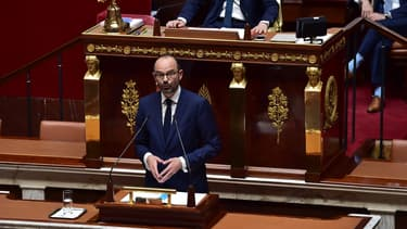 Édouard Philippe devant l'Assemblée lors de son discours de politique générale