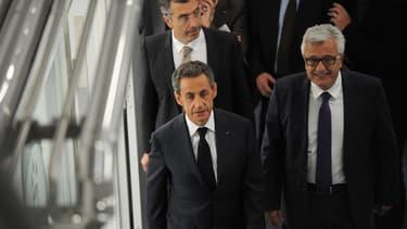 Nicolas Sarkozy, le 8 octobre, lors de son déplacement à Béziers.