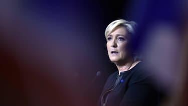 Marine Le Pen, le 15 avril à Perpignan.