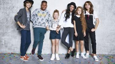 Kids United, a l'époque avec Carla, qui a depuis quitté le groupe depuis