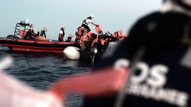 Opération de sauvetage de migrants au large de l'Italie (illustration)