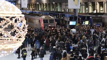 Des usagers de la SNCF en gare de Lyon à Paris le 12 décembre dernier, en plein jour de grève contre la réforme des retraites.