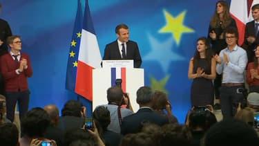Le chef de l'État, Emmanuel Macron, prononce un discours sur l'Europe le 26 septembre dans l'amphithéâtre de la Sorbonne à Paris.