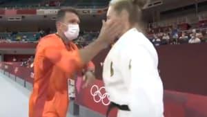 La méthode de motivation très musclée de l'entraîneur de la judoka allemande, Martyna Trajdos