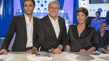 Charles Consigny, Laurent Ruquier et Christine Angot.
