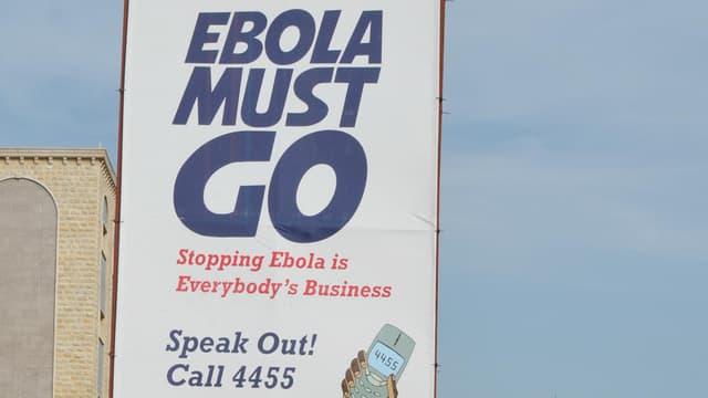 La résurgence d'Ebola est terminée au Liberia, comme  le souhaitait cette campagne de pub dans les rues de Monrovia, capitale du pays (Photo d'illustration)