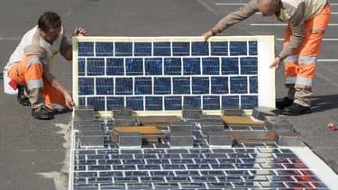 Les travaux de la première route solaire ont été lancés en Normandie (illustration).