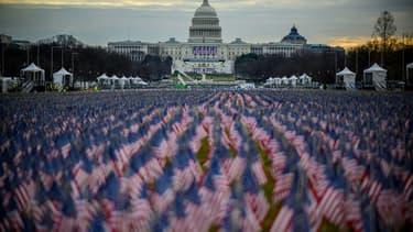 Les drapeaux sur le Mall de Washington